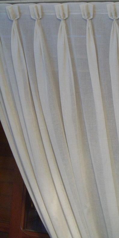 cortinas rusticas para riel o barral en tela gasa de lino