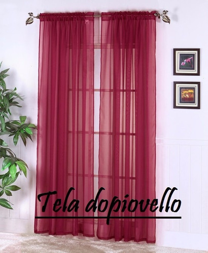 cortinas sala cuarto . tela translucida .dopiovello