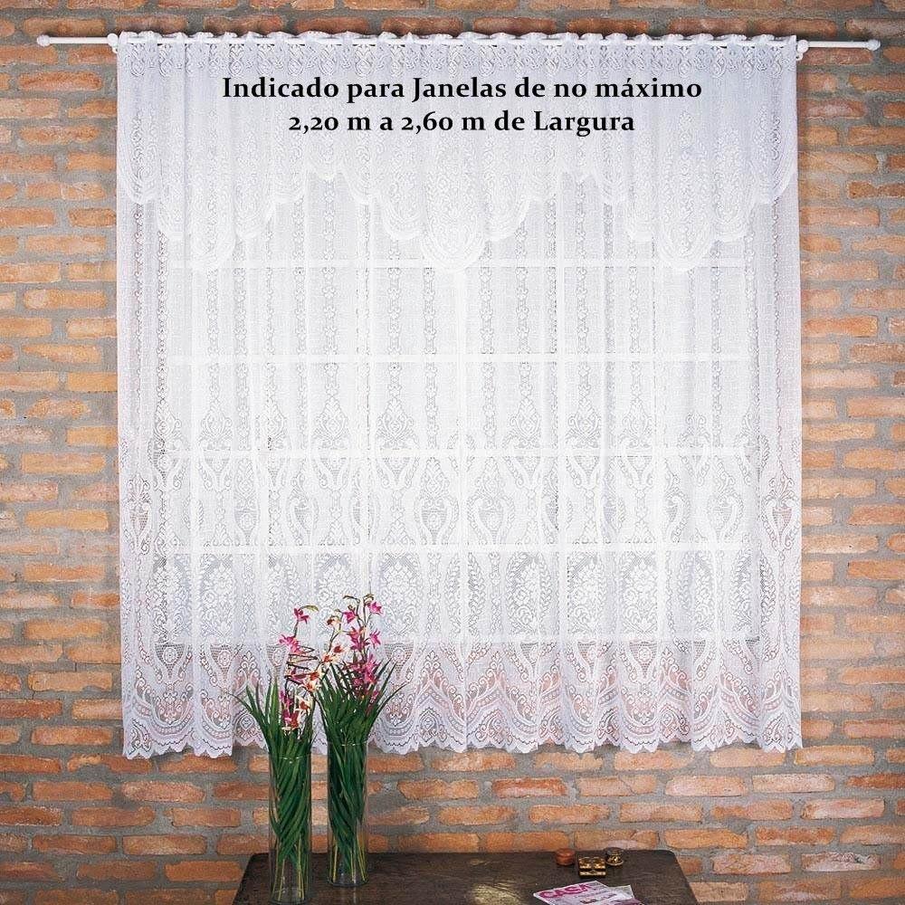 Cortinas Sala Quarto Cozinha Renda Transp 3 00m X 2 20m R 67 00
