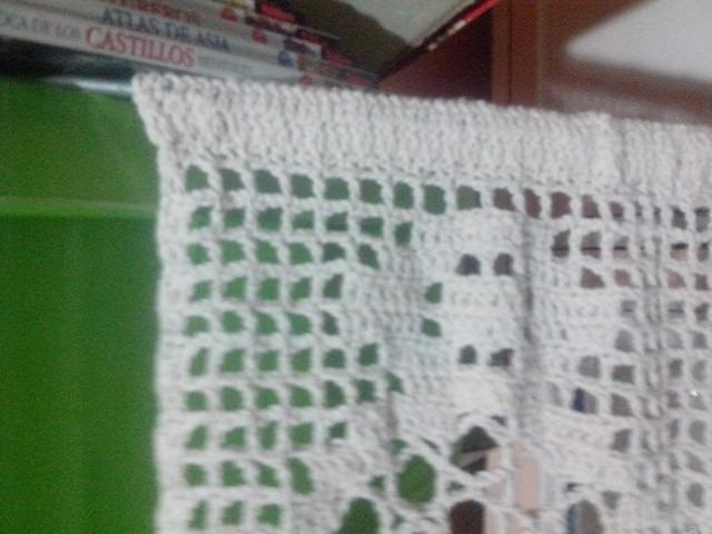 Cortinas Tejidas Al Crochet En Hilo - $ 1.600,00 en Mercado Libre