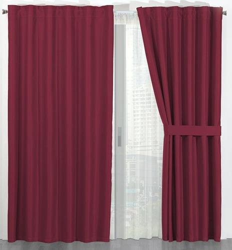 Cortinas termicas black out bloquean luz ruido frio - Colores de cortinas ...