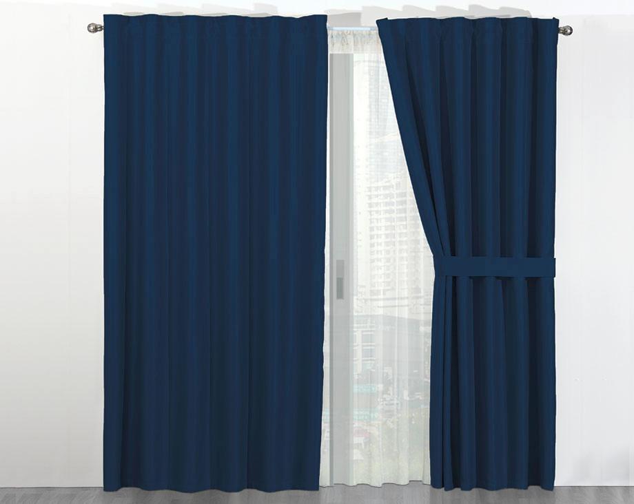cortinas termicas blackout noche y dia azul marino concord