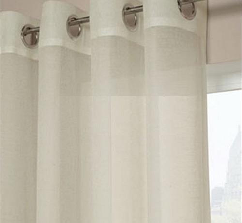 cortinas translúcidas d ojillos metálicos $119 xmetro lineal