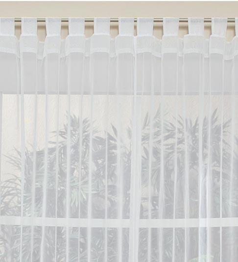 Cortinas translucidas transparentes tergal blanco o beige for Cortinas en blanco