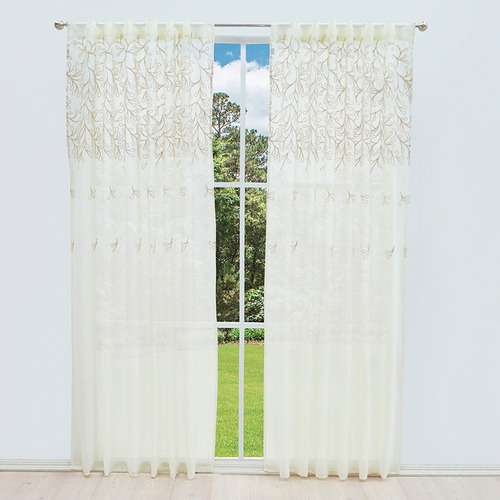 cortinas velino translucidas bordadas vanney envio gratis