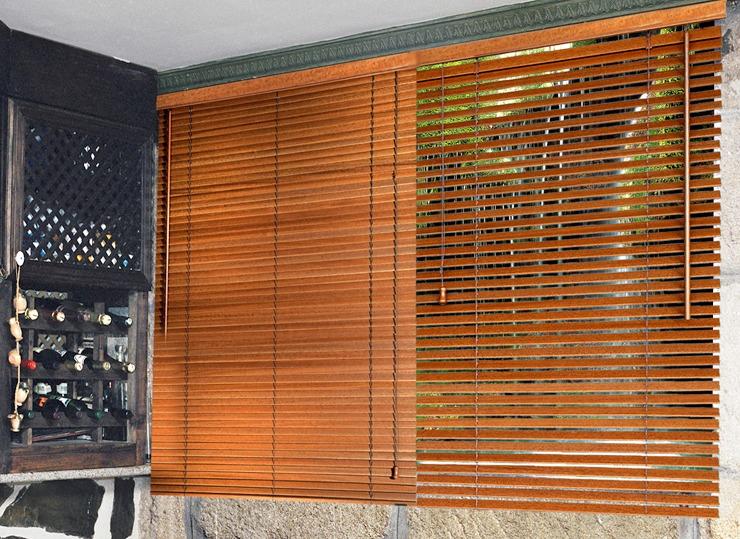 Cortinas venecianas en madera pvc aluminio roller Cortinas plegables de pvc