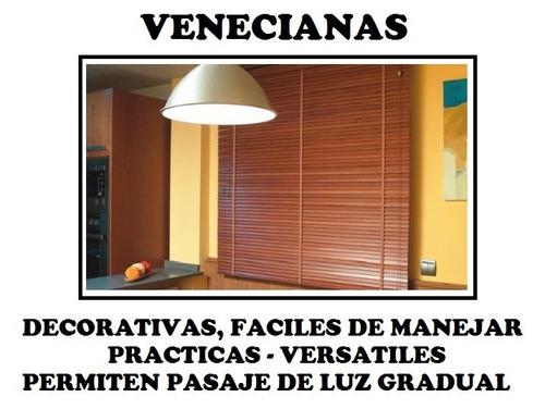cortinas venecianas pvc ,aluminio y madera