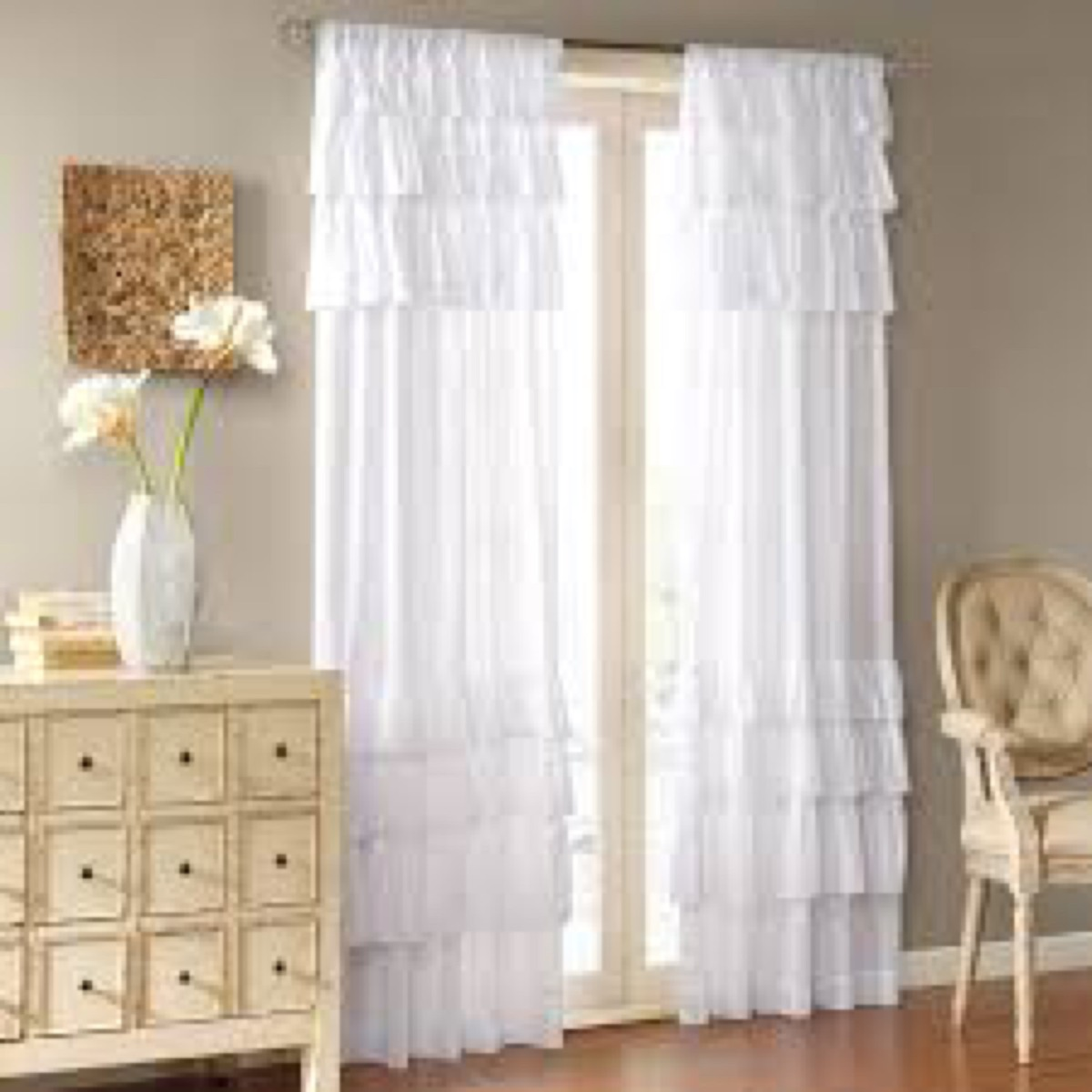 Cortinas vintage shubby chic 1 en mercado libre for Cortinas vintage para salon