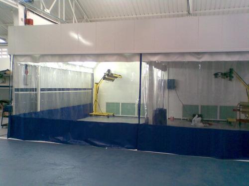 cortinas y cabinas de pintura para la industria en gral.
