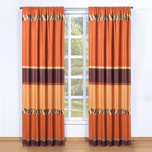cortinas zulu 2 paneles de 1.30 x 2.20 envio gratis