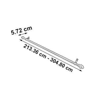 cortinero 3/4  extendible 84-120  dorado graber