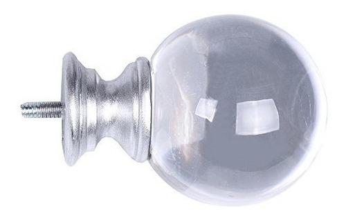 cortinero cortina de daintier en plata con cristal acrílico