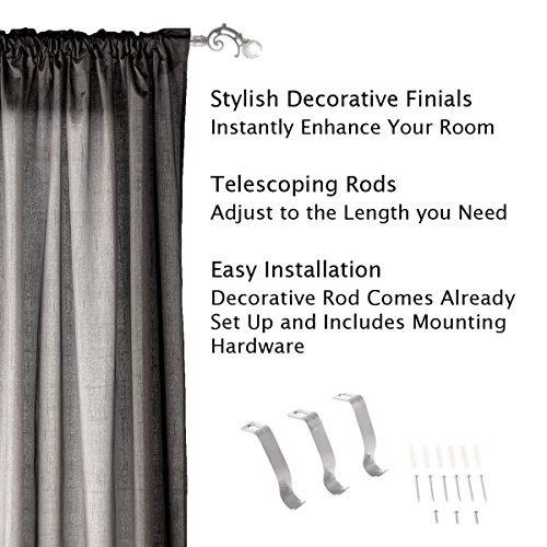 cortinero curtain rod con accesorios para montaje crysta