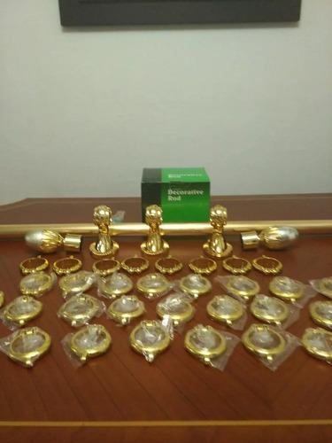 cortineros importados de  1,2 y 3 metros metal anonizado