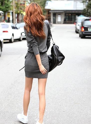 corto mujer vestido