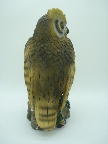 coruja resina enfeite decoração ss5419