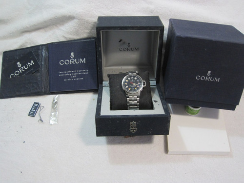 corum admirals cup trophy,automatico,cx.,certificado, manual