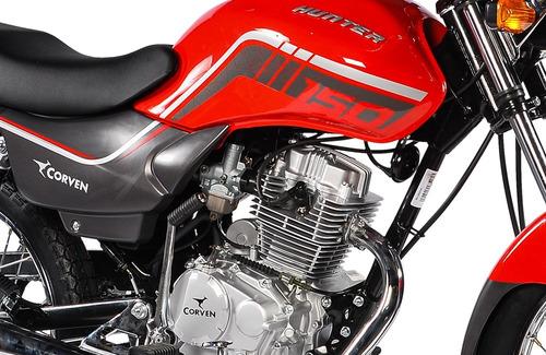 corven hunter 150 0km 2018 rojo full 150cc nacked 999 motos