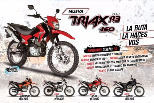 corven triax 150 r3 0km negro financiado minimo anticipo