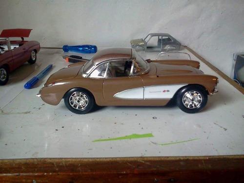 corvette 1957 maisto 1/18 modificado