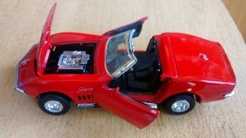 corvette clasico 1969 de coleccion escala: 1/32 metal