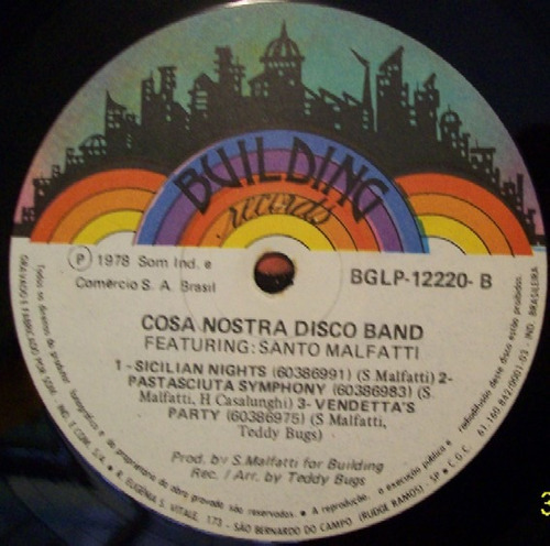 cosa nostra disco band  lp   tarantella disco