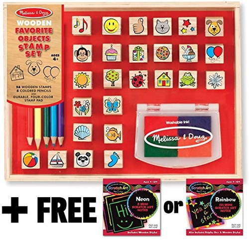 cosas favoritas: sello de madera set + gratis melissa & doug