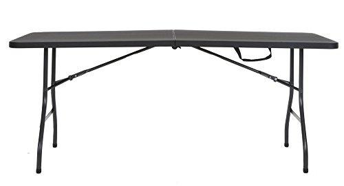 cosco deluxe 6 pies x 30 pulgadas plegable en medio mesa mol