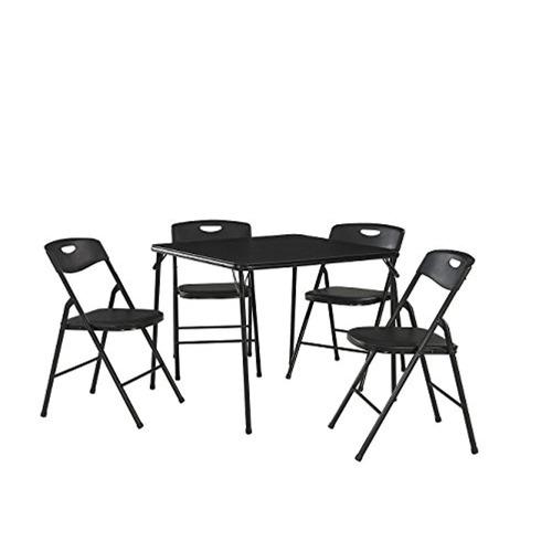 cosco - juego de mesa plegable y silla 5 piezas, negro