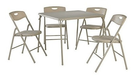 cosco - juego de mesa y silla plegable, 5 piezas, lino