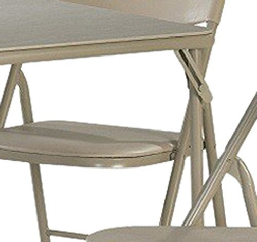 cosco - juego de mesa y silla plegable, 5 piezas, lino antig