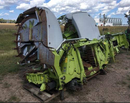 cosechadora de forraje claas 870, con cabezal orbis