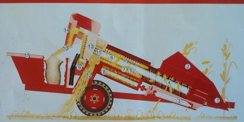 cosechadora de maíz de un surco jumil jm360g nueva