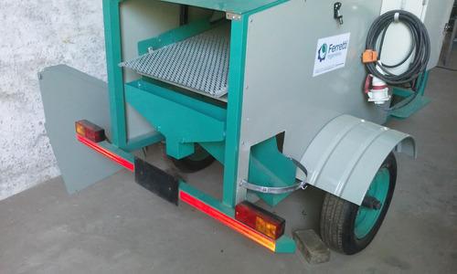cosechadora - maxi trilladora estacionaria para ensayos