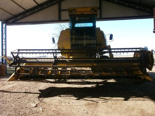 cosechadora new holland 8055 de 19 pies, con orugas!