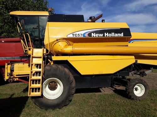 cosechadora new holland tc57,usada