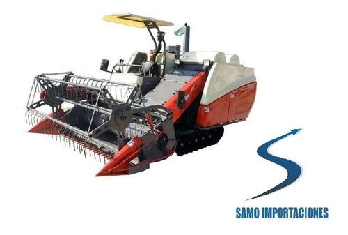cosechadora para cultivos de arroz 102 hp economica