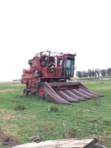 cosechadora vasalli 316 con sojero y maicero