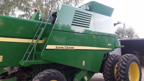 cosechadoras john deere 1570, 1400 hs, 25/30pies, nueva!!!!
