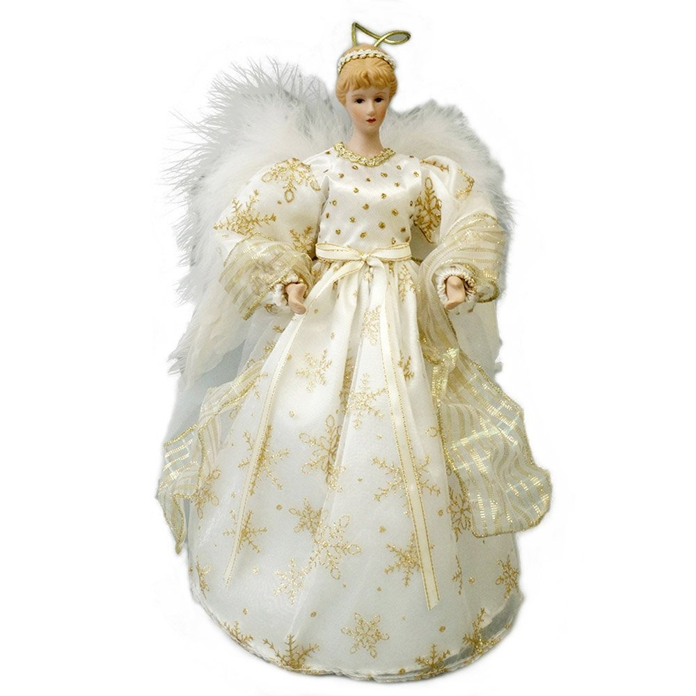 Christmas Angel Tree Topper.Cosette Christmas Angel Tree Topper Decor Collection Snowfl