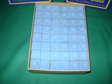 cosméticos (tizas) azul  caja con 144 piezas