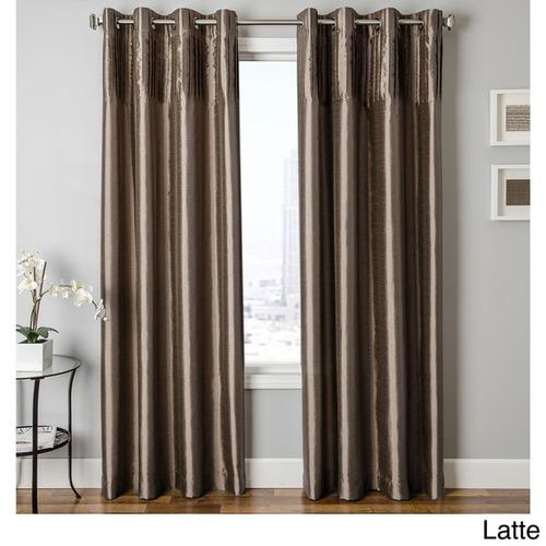 cosmo faux silk grommet top cortina panel