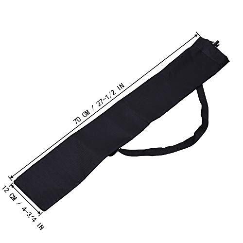 cosmos color negro portátil bolsa para bastón