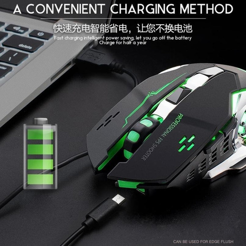 cosmos tech mouse gamer free wolf 4000 dpi gamers, negro