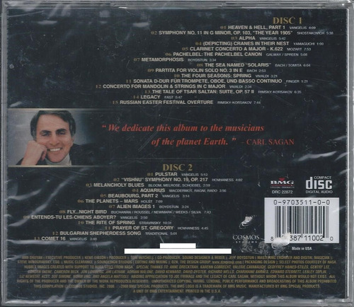 cosmos the music of  selections from the score by carl sagan