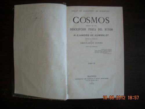 cosmos. tomo iii.                      alejando de humboldt.