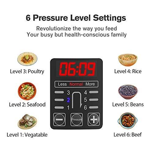cosori 6 qt 7in1 olla de presión programable m