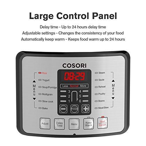 cosori 6 qt 7in1 olla de presión programable multifuncional