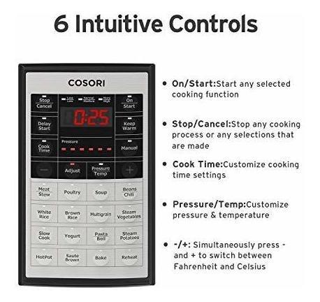 cosori cp018-pc  olla a presion electrica digital 8 qt 8en1