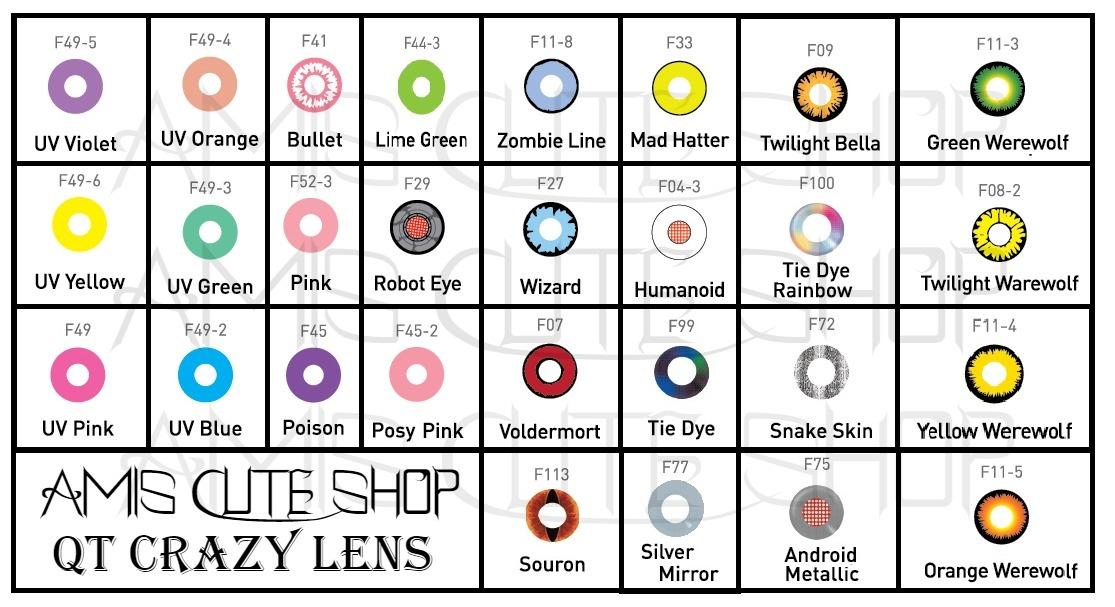cosplay lens qtlens crazy lens mix fx lentes halloween